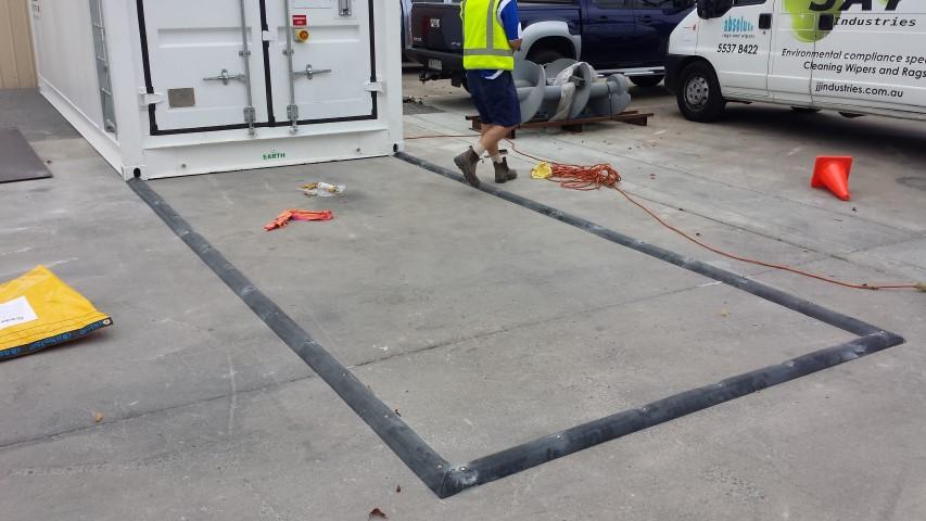 rubber floor bunding